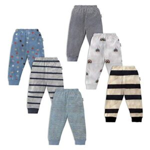 NammaBaby Kid's Cotton Pajama Pant with Rib – Pack of 6