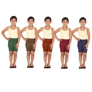 Gold Jasmine Cotton Cycling Shorts/Tights for Girls & Kids Pack of 5 – (80,85,90,95,100 cm)