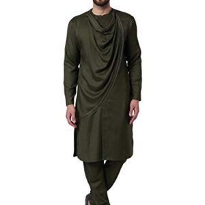 I-know Men's Viscose Regular Kurta