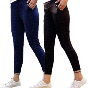 Aaina creations Women's Slim Fit Jegging (Pack of 2) (Grey_Large)