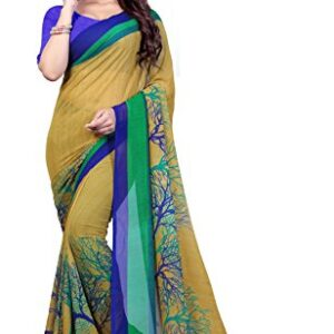 Anand Sarees Georgette Saree with Blouse Piece (1341_Multicoloured_Free size)
