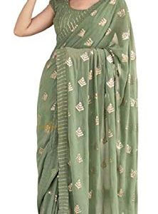 Infamiss Women's Saree Heavy Embrodery Sequnce Work