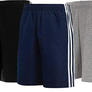 Crazy Prints Cotton Fleece 3 Stripes Shorts for Men Pack of 3