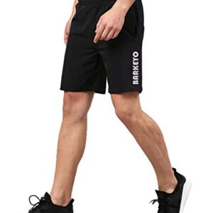 BARKEYO Mens Polyster Training Gyming Shorts Designed for Exercise/Jogging/Running/Printed Sports/Cycling/Workout/Yoga Pants and All Fitness Activities