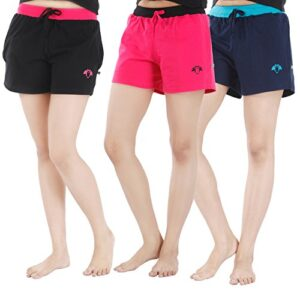 NITE FLITE Women Cotton Shorts | Pack of 3