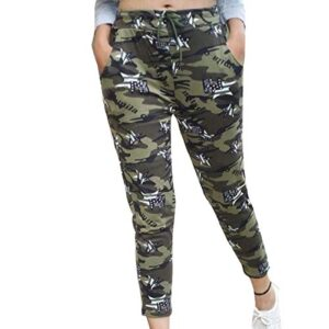 BHADANI SALES Women's/girls Army Style Joggers Lower Sports Gym Athletic Track, (Camouflage Print) Free Size Pack of 1