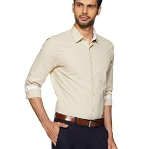 Diverse Men's Solid Regular Fit Formal Shirt