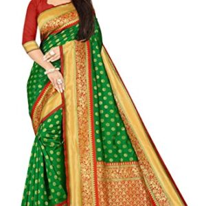 Expert E-commerce Services Women Soft Silk Saree with Blouse