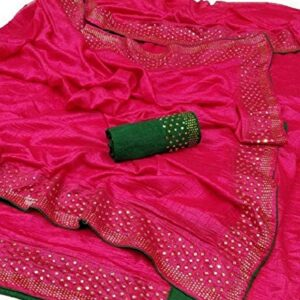 Any Fashion Women's Silk Saree With Blouse Piece