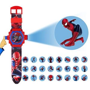24 Images Spiderman Projector Watch for Kids, Birthday Return Gift