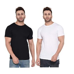 Aarcadian Men's Regular Fit Solid Round Neck T-Shirt Combo