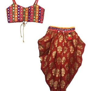 Aglare Indo-western | Cotton | Safe to Skin | Casual Wear | Multi-occasional Dhoti Suit Dress for Girls. MATCHING MASK FREE