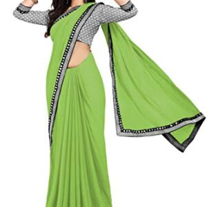ANY Women's Sana Silk Saree With Blouse Piece