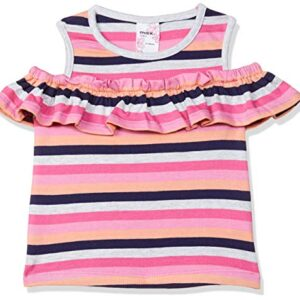 Max Baby Girl's Striped Regular Fit T-Shirt (P19AGB10_Multi 12-18 Months)