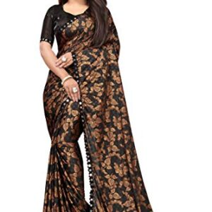 Amiga Fashion Women's  Malai Saree With Bloues Piece