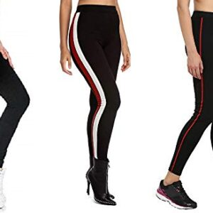 Aglobi Exclusive Womens Jogger Gym Yoga Sports & Fitness Cashual Side Striped Ankle Length Leggings Tights with Army Leggings